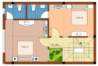 vuong2 117511 1388982495 - Thiết kế nhà 3 tầng 6.3 x 8.6 m