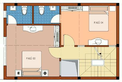 vuong3 102149 1388982495 - Thiết kế nhà 3 tầng 6.3 x 8.6 m
