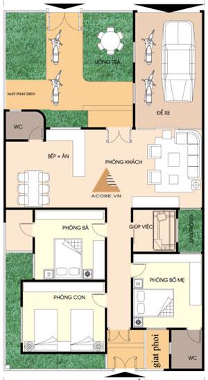 nha1tang 929436 1388975121 - Tư vấn hiết kế Nhà 1 tầng trên đất 180 m2  (4 phòng ngủ)