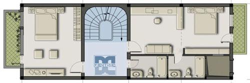 hoan2 183279 1388975089 - Tư vấn thiết kế Nhà 2 tầng, mặt tiền 5,5 m sang trọng