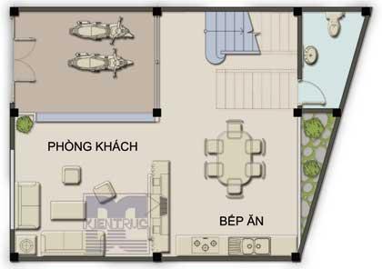 pn1n 974052 1388974367 - Tư vấn hiết kế nhà 60 m2 trên đất hình thang