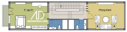 tang2 370751 1388974303 - Tư vấn hiết kế Nhà chia lô 80 m2 hẹp và dài đẹp nhất