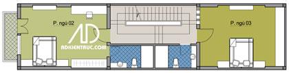 tang3 423325 1388974304 - Tư vấn hiết kế Nhà chia lô 80 m2 hẹp và dài đẹp nhất
