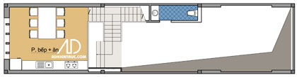 tanglung 962770 1388974303 - Tư vấn hiết kế Nhà chia lô 80 m2 hẹp và dài đẹp nhất