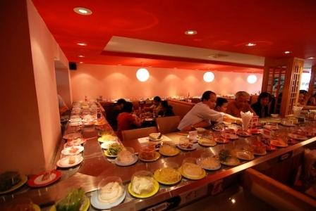 Không gian bên trong nhà hàng.