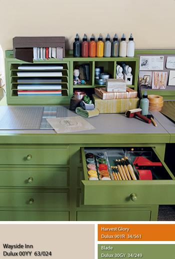 Sơn nội thất màu xanh lục khuấy động cảm xúc sáng tạo Dulux 00YY