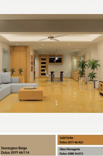 Màu sơn Dulux nhạt và nội thất.