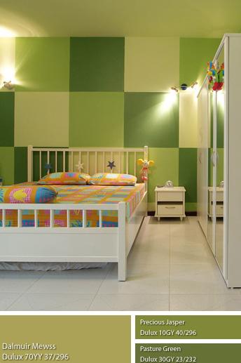 Không gian Mộc và phòng trẻ em dùng sơn Dulux.