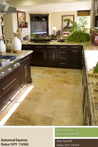 Sắc màu không gian Mộc phù hợp với không gian nhà bếp.