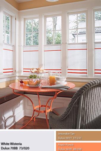 Màu cam trong không gian nội thất.