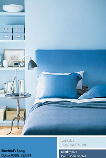 Màu sơn Dulux xanh nước biển.