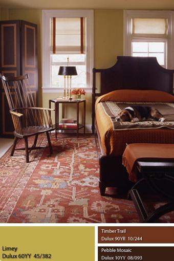 Sắc màu sơn ấm cho phòng ngủ.