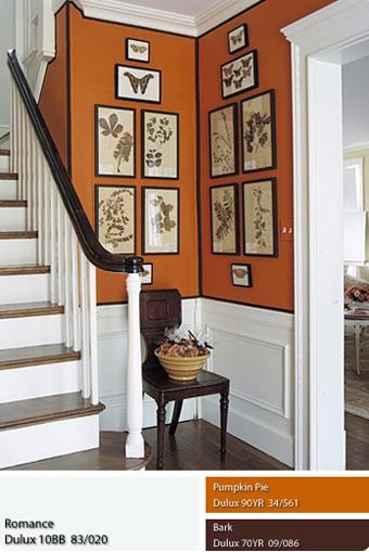 sơn Dulux với màu da cam rực rỡ.