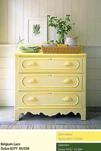 sơn Dulux màu vàng ngả nắng.