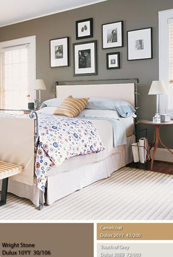 Những bức tường này tạo cảm giác tương phản khi ta đặt một chiếc gường có kiểu dáng độc đáo và nhiều màu sắc ở giữa căn phòng.