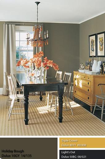 chọn màu đậm cho chiếc bàn để đánh bật lên những cái ghế dựa