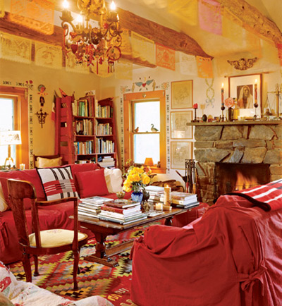 Phòng khách của nữ diễn viên, đạo diễn Anjelica Huston