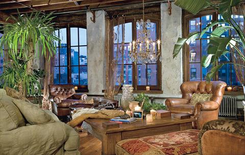 Phòng khách của nhà nam diễn viên Gerard Butler.