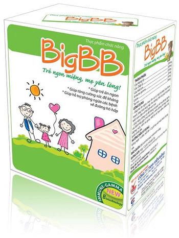 BigBB giúp bé luôn khỏe mạnh, hết biếng ăn, táo bón, ốm vặt.