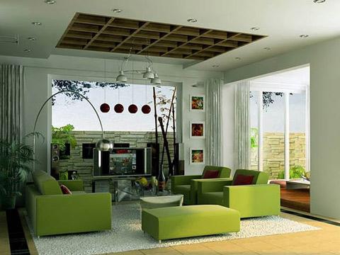 Ánh sáng và màu sơn tường tạo cảm giác tươi tắn cho căn phòng.