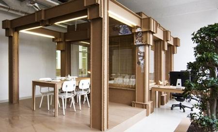 Từ những vật liệu bỏ đi, công ty đã xây dựng lên một trụ sở văn phòng hoàn toàn độc đáo, mới lạ.