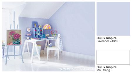 Nếu như căn phòng của bạn quá thấp, có nhiều cách để làm cho chúng trông cao hơn. Một trong những cách đó là dùng màu sơn nhạt. Những màu sơn nhạt hay còn gọi là những màu thoái sẽ làm không gian giãn ra và rộng rãi hơn.