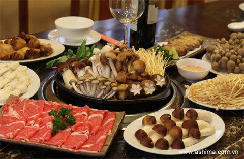 Những món ăn từ nấm được chế biến tại Nhà hàng Ashima.
