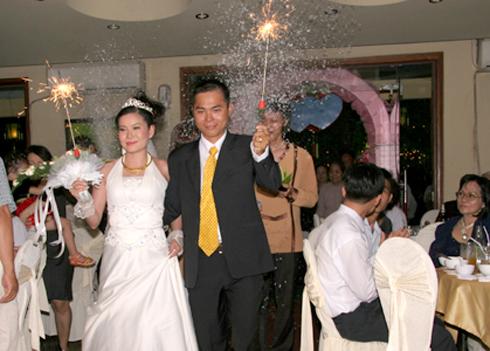 Đám cưới ở nhà hàng Việt Chay. Ảnh: VC.