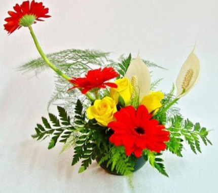 Để hoa lâu tàn nên cho vào bình cắm một ít muối hoặc đường. Ảnh: MT.