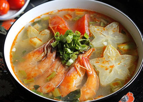 Cách nấu canh chua tôm khế ngon ngọt tự nhiên ảnh 3
