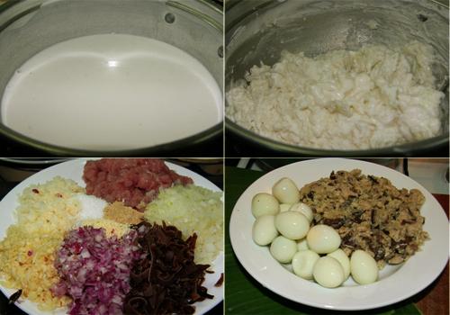 Cách làm món bánh giò nóng hổi thơm ngon 1