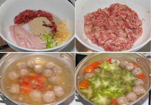Canh khế nấu thịt bò