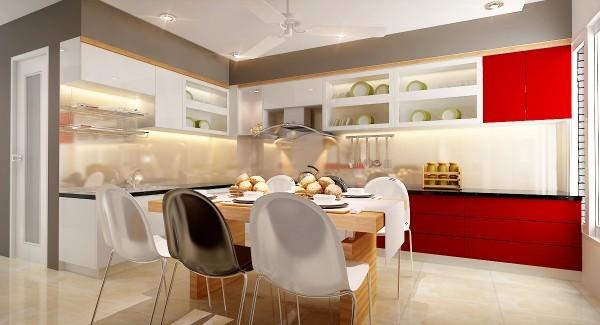 Phối màu cho gian bếp hiện đại và cá tính