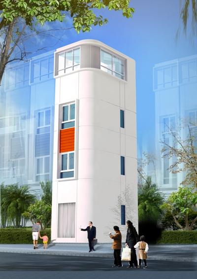 Đối với nhà nhỏ nên sử dụng tường màu sáng nhất có thể, sẽ giúp cho căn nhà rộng hơn. Ảnh:Không Gian Hoàn Hảo.