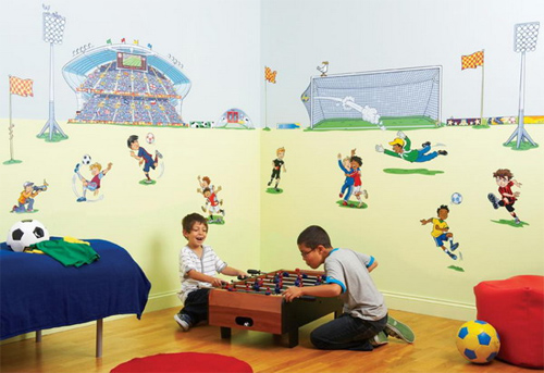 Bạn đừng ham kê nhiều đồ trong phòng, nên để nhiều không gian cho bé chơi cùng bạn bè.