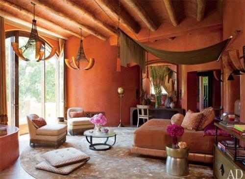 Trong biệt thự lớn ở California (Mỹ) của gia đình Will Smith có rất nhiều phòng ngủ, hình ảnh trên là phòng ngủ lớn.