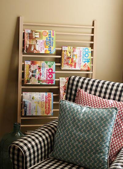 Nơi treo sách báo trong phòng khách, phòng đọc.