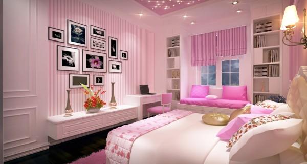 Phòng ngủ lãng mạn ngày Valentine