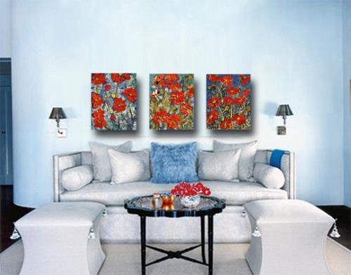 Những căn phòng xanh đỏ đẹp mắt 2