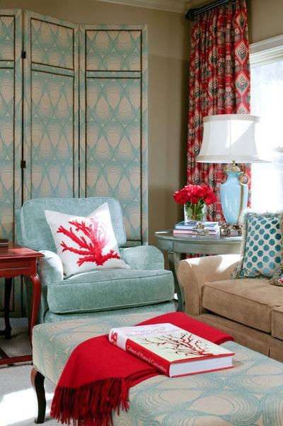 Những căn phòng xanh đỏ đẹp mắt 7