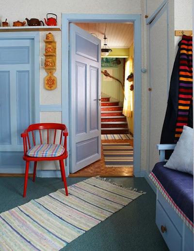 Những căn phòng xanh đỏ đẹp mắt 9