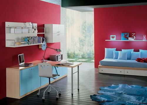 Những căn phòng xanh đỏ đẹp mắt 5