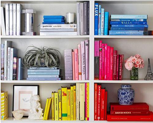 Sắp xếp tủ sách cho nhà thêm xinh