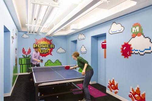 Thiết kế những phòng vui chơi cho các công ty lớn