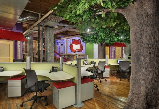 Độc đáo với rừng nhiệt đới trong văn phòng công ty 4