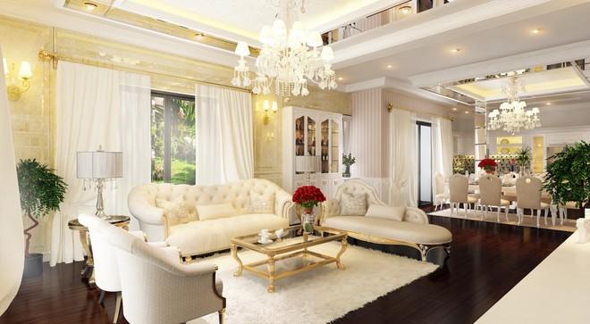 Biệt thự xa hoa 135 m2 theo phong cách châu Âu