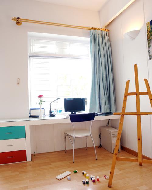 Phòng ngủ con cái được bày biện linh hoạt hơn, phù hợp với sự hiếu động của trẻ.