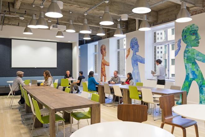 Những văn phòng tuyệt đẹp chứa đủ quán cà phê, nhà hàng 7