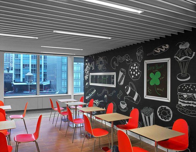 Những văn phòng tuyệt đẹp chứa đủ quán cà phê, nhà hàng 10