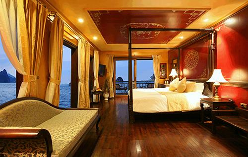 Bố trí phòng khách theo  phong cách Đông Dươngluxuryhalongcruises